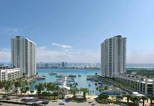 The Marina Palms Yacht Club Residences In North Miami Beach Would Have Two Towers