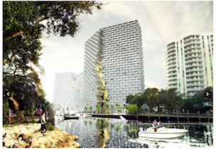 Marina Lofts proposed for the New River in Fort Lauderdale would have three towers.