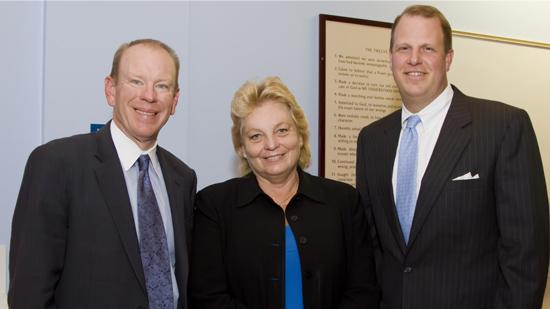 Doug Tieman, CEO, Caron Treatment Centers; Dr. Barbara Krantz, CEO, Hanley Center; and Andrew Rothermel, executive VP/chief financial & administrative officer, Caron Treatment Centers.