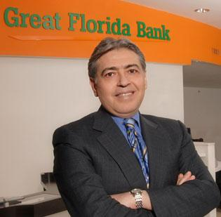 Great Florida Bank President, Chairman and CEO M. Mehdi Ghomeshi.
