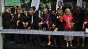 Palm Beach County commissioners and leaders from both Max Planck Florida and Germany cut the ribbon on the new facility in Jupiter.
