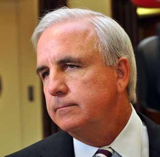 Miami-Dade Mayor Carlos Gimenez is hoping for a Heat championship and some Oklahoma steaks.