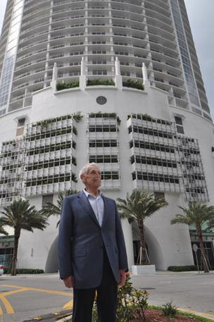 Tibor Hollo built Opera Tower in Miami, but he won't be building homes near Delray Beach.