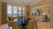 The dining room offers oceanfront views.