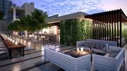 A rooftop restaurant at the Gale South Beach & Regent Hotel.