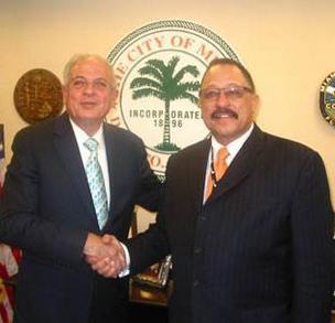 Tomás Regalado and Joe Brown