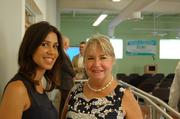 Onetime environmental outreach liaison at the city of Miami Sonia Succar Ferre and Theodora Long, executive director of the Marjory Stoneman Douglas Biscayne Nature Center on Key Biscayne. They both attended the Miami Green Lab ribbon cutting Thursday.