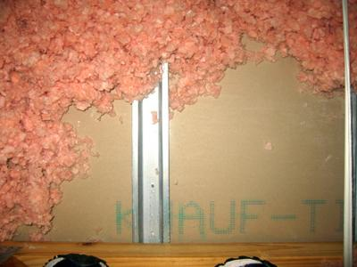 Chinese drywall stamped with the Knauf name.