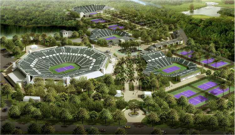 The approved Crandon Park expansion would add permanent stadium structures to the Sony Open Tennis Tournament.
