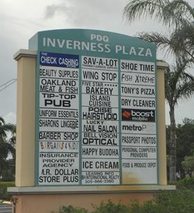 Inverness Plaza in Lauderhill is headed to auction after its owner lost a $10.5 million foreclosure lawsuit.
