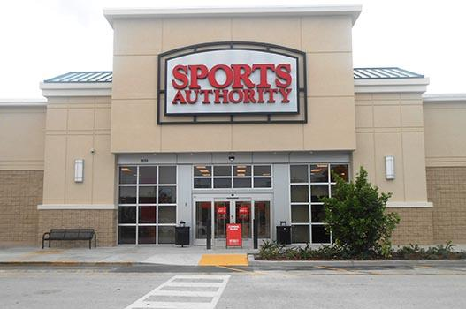 Sports Authority has 17 South Florida locations.