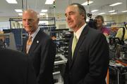 Gov. Rick Scott and Maurice Ferre, CEO of Mako Surgical.