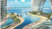 Resorts World Miami will have a 1,000-foot long swimming lagoon with a sandy beach – eight stories up.