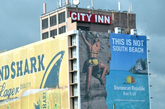 The City Inn along Interstate 95 in Miami has been used more as a billboard than as a hotel.