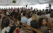 The crowd at the Miami Science Museum groundbreaking.