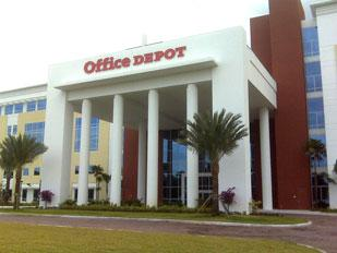 Office Depot's income fell from $15.52 billion in 2007 to $14.49 billion in 2008.