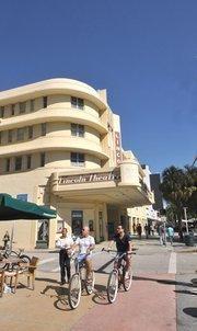 Miami Beach's Lincoln Road pedestrian mall.