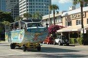 Duck Tours along Fort Lauderdale's Las Olas Boulevard.