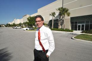 'I have some beer bets out that we will be in the 8 percent vacancy range by year-end,' says Cushman & Wakefield's Chris Metzger, pictued at ProLogis Park Sawgrass in Coral Springs.