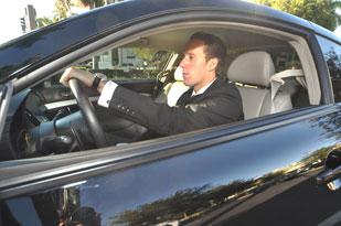 Matthew Beck of the Mergis Group uses the express lane to commute to Miami.