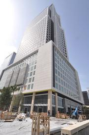 600 Brickell, a new ofice building seeking platinum LEED distinction.