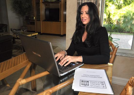 Debbie Leff Israel of Florida Alimony Reform wants the law to wean some off of alimony.