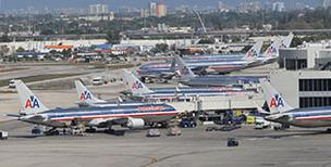 American Airlines planes at Miami International Airport
