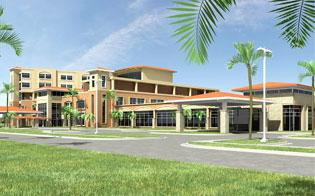 The 80-bed Bethesda Hospital West, shown in this rendering, is expected to be completed in January.