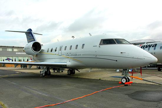 A Bombardier Challenger jet, similar to the one shown above, is the subject of a dispute between companies owned by Ugo Colombo and Craig Robins.