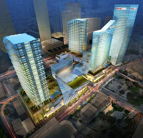 A rendering of Brickell CityCentre, which could include many tenants that are also at Bal Harbour Shops.