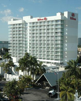 The Hilton Fort Lauderdale Marina Hotel's $66 million loan was briefly delinquent and recently modified.