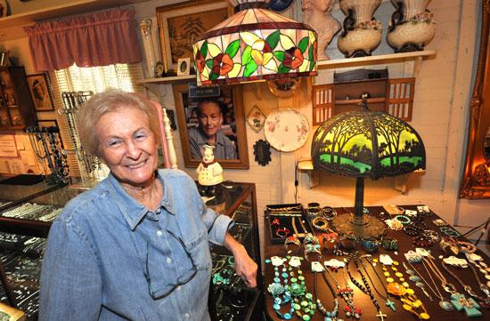 Honey Chalmers at her Today's Collectibles shop has been a tenant for many years.