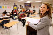 Michelle Christensen facilitates a financial literacy session.