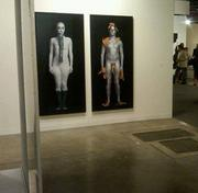 Paintings on display during Art Basel in 2011.
