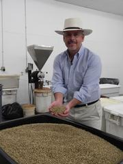 Darron Burke imports coffee from Indonesia, Brazil, Columbia and Guatemala.