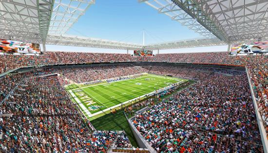 This rendering shows what the upgrades to Sun Life Stadium would look like.