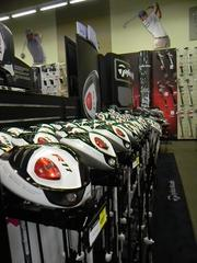 The new TaylorMade R-11 drivers with a white head are among the newest products in golf technology.