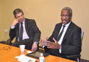 Carlos Rosso and Albert Dotson Jr. discussed Latin American investment in South Florida.