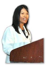Dr. Julie Servoss, an assistant dean at FAU's Charles Schmidt College of Medicine, gave the keynote.
