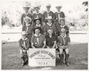 Mike Jackson, far left in the first row, became an Eagle Scout and received the Good Scout Award for business success.