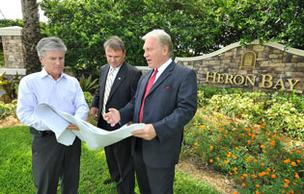 Louis Paratore of WCI  Communities with Bob Kramm and Jack Lannom at Heron Bay.
