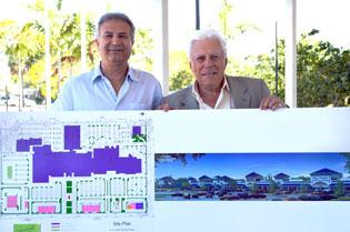 Yoram Izhak, president of IMC Property Management, and Alvin Cohen, the architect for the planned Lauderhill Mall renovation.