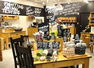 Lush Cosmetics, whose Boca Raton location is shown, will open soon in Dadeland Mall.