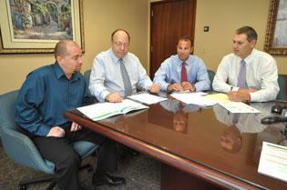 FDR Financial Group's Jeremy Schinder, Jeffrey Solodkin, Jeffrey Blaze and Eric Mathes.