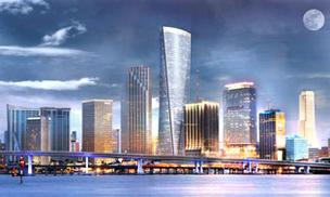 One Bayfront Plaza is set to be the tallest building south of Atlanta's Bank of America Plaza.