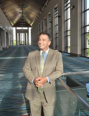 David Anderson, general manager of the Palm Beach County Convention Center, hopes it will soon have an attached hotel.