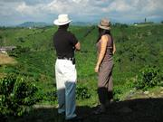 Darron and Eliana at a coffee plantation in Columbia.