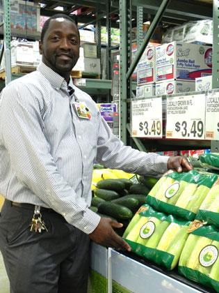 Alfred Rudolph, GM at BJ's Wholesale Club in Pembroke Pines, has seen produce sales triple under the Farm to Club program.