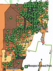 The size of the houses indicate the number of high spread interest rate mortgages in a given tract during 2006 at the height of the lending boom. Some of the areas with a lower percentage of minority residents, such as the eastern Kendall/Pinecrest area had relatively few of them. In contrast, a high minority area near the Broward County line had many.