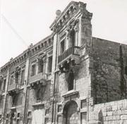 This undated photo shows a balcony of the Valletta Waterfront before its restoration.
